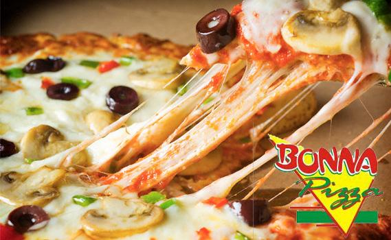 Hora da Pizza no Tatu! Pizza Tamanho Família. Escolha entre os Sabores: Calabresa Lombo Mussarela Napolitana e Palmito na Bonna Pizza em Regente Feijó