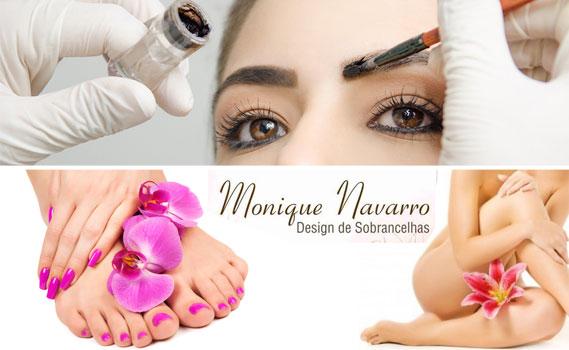 Pacote Dia da Beleza Monique Navarro. 01 Mão + 01 Pé + 01 Depilação (Escolha 01 área entre: buço, axila, virilha completa ou meia perna) + Sobrancelha com Henna