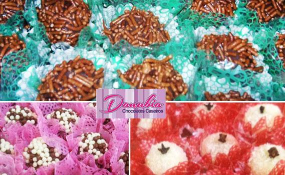 Festa Garantida com a Danubia Chocolates!100 Docinhos para Festas! Escolha entre: Chocoball, Brigadeiro ou Beijinho. Ótima localização!