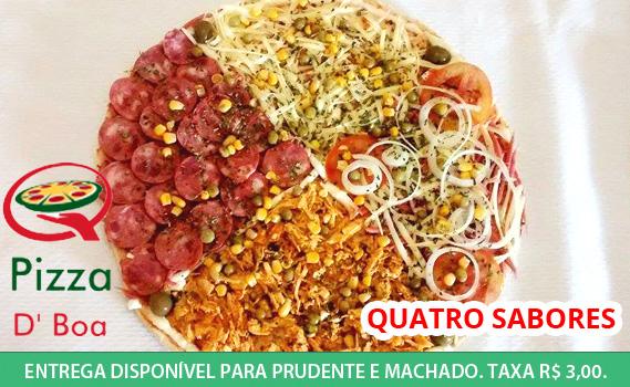 """""""TUDO ACABA EM PIZZA!"""" Pizza Semi-Pronta Resfriada Tamanho Família por R$ 9,99 na Pizza D´Boa. 02 Opções de Sabores. Pronta pra assar. Entrega em Prudente"""