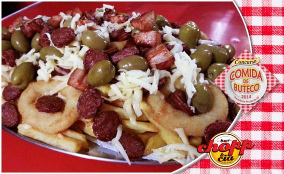 FESTIVAL COMIDA DE BUTECO! PORÇÃO CIA PRUDENTINA NO TATU! 1,2 Kg de Porção: Batata Frita + Calabresinha + Azeitona + Anéis de Cebola Empanados + Bacon
