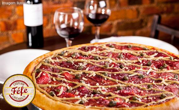 HUMMM, DE DAR ÁGUA NA BOCA!!! 01 Pizza Tamanho Família por apenas R$ 15,99. 10 Sabores (9 Salgados e 1 Doce) para você escolher. Confira nos destaques da Oferta