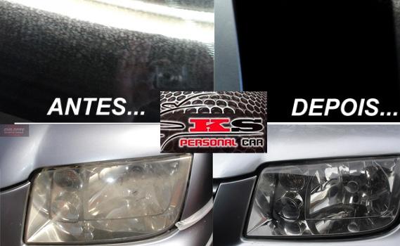 VALORIZE SEU CARRO! Envernizamento dos Faróis ou Lanternas traseiras com acabamento (válido para o par) + Limpeza de Chuva ácida dos vidros por apenas R$ 49,90