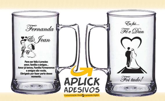 Personalize Ideias! 30 Canecas de Chopp de Acrílico Transparente (450ml). Personalize para: Casamento, Aniversário, Formatura, Brindes Empresariais e diversos