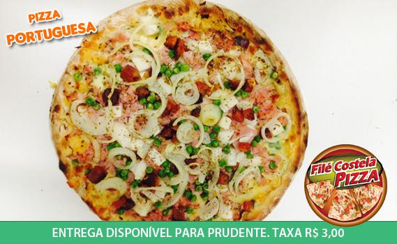 SABOROSA E BEM RECHEADA!!! 01 Pizza Tamanho Família por apenas R$ 15,99. Escolhe entre: Portuguesa, Francesa ou Catufrango. Entrega disponível para Prudente