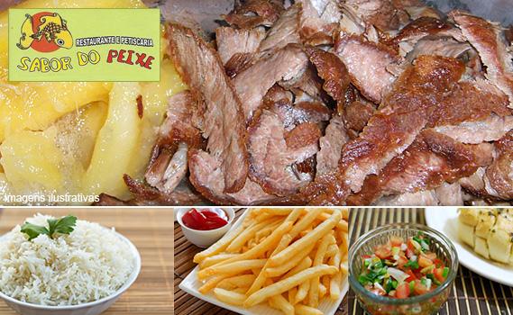 ELA VOLTOU!!! Mais de 2 Kg de Porção: 800g de Cupim Casqueirado + 600g de Mandioca Cozida + 600g de Arroz + 300g de Batata Frita + Vinagrete