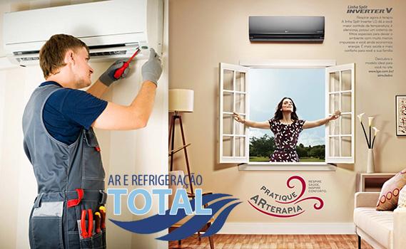 VERÃO CHEGOU COM TUDO!!! CHEGA DE SOFRER COM O CALOR!!! Instalação de Ar Condicionado SPLIT por apenas R$ 129,90 na TOTAL AR. Divida em até 12 x de R$ 12,28