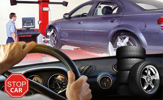 AS FÉRIAS CHEGARAM! VAI VIAJAR??? Faça  a revisão do seu carro na Stop Car!!! Alinhamento + Balanceamento + Rodízio de Pneus + Check-up da suspensão e dos freios