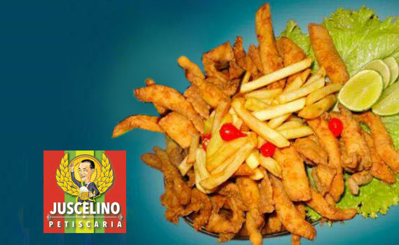 Delícia de Porção no Juscelino Petiscaria!! 01 kg de Porção: Tilápia (600g) + Batata Frita (400g) + Molho verde + Molho de Alho + Shoyo. Consumo Somente no Local