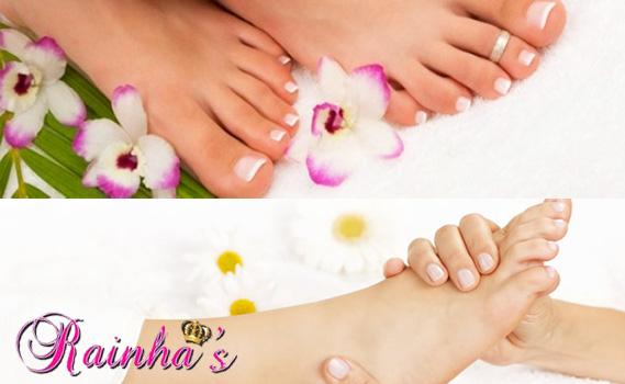 Pés de Rainha!! Tratamento Incrível para os seus pés! Hidratação + Esfoliação + Massagem Reflexologia Podal + Pedicure no Salão Rainhas por Apenas R$ 14,90