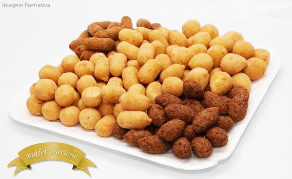 SALGADOS DA DARLENE! 100 Salgadinhos Fritos ou Congelados: Bolinho de Bacalhau, Coxinha, Kibe, Bolinha de Queijo ou Risóles de Pizza