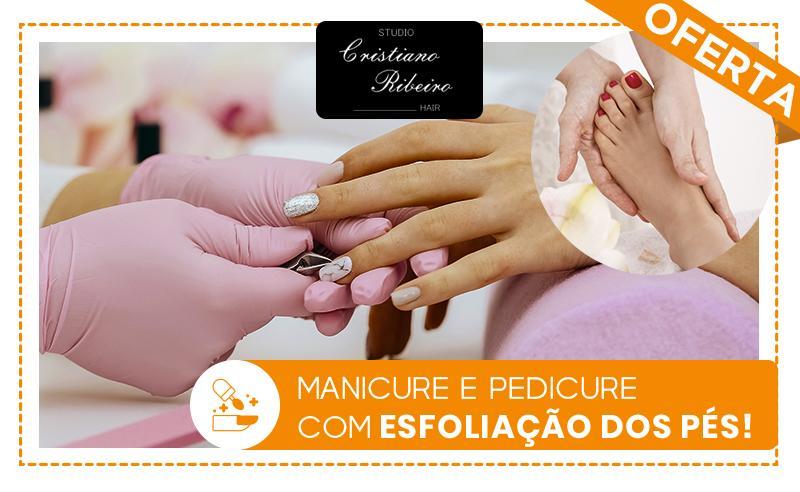 Manicure e Pedicure com Esfoliação dos Pés