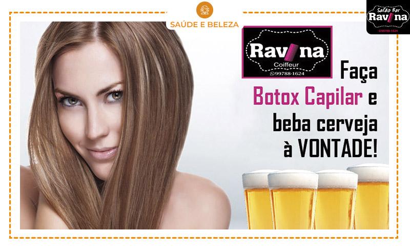Botox Capilar + Escova + Prancha + Cerveja à Vontade