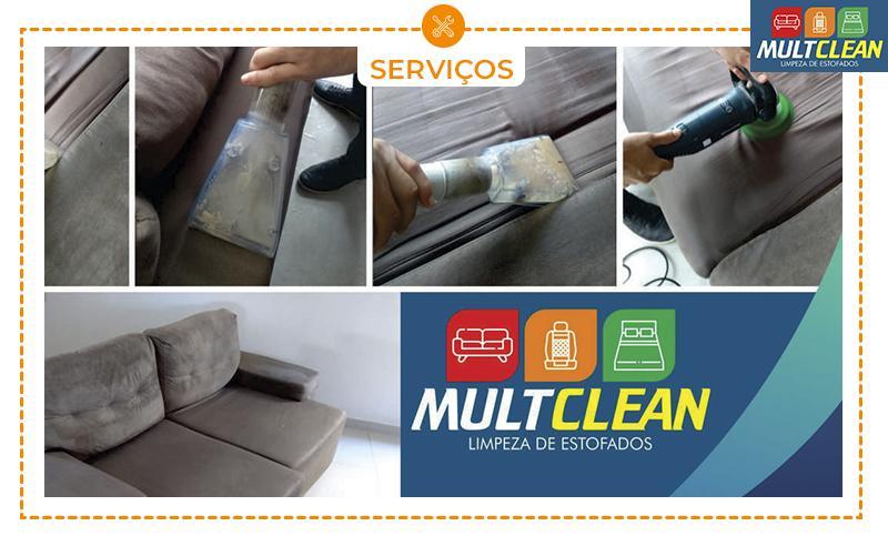 Limpeza de Estofados 2 ou 3 Lugares - Máquina Extratora