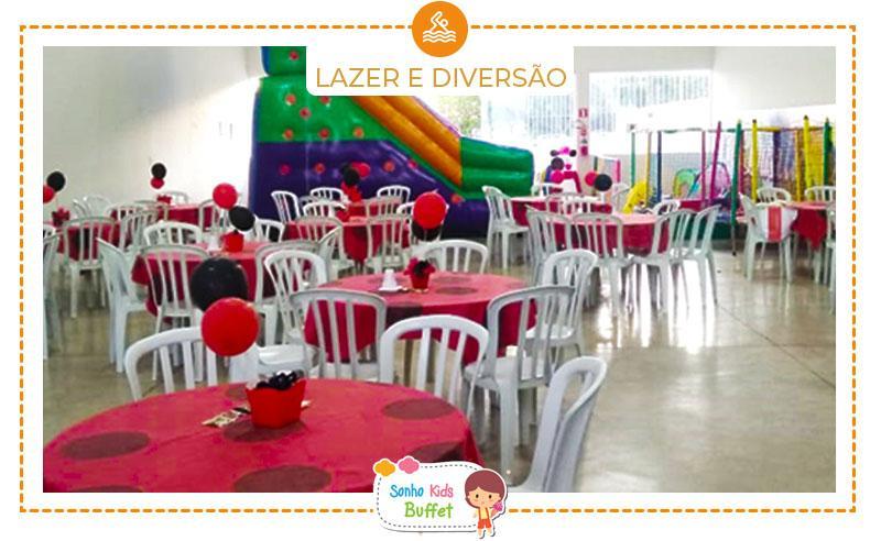 Salão + Buffet para 40 Pessoas + Decoração + Brinquedos