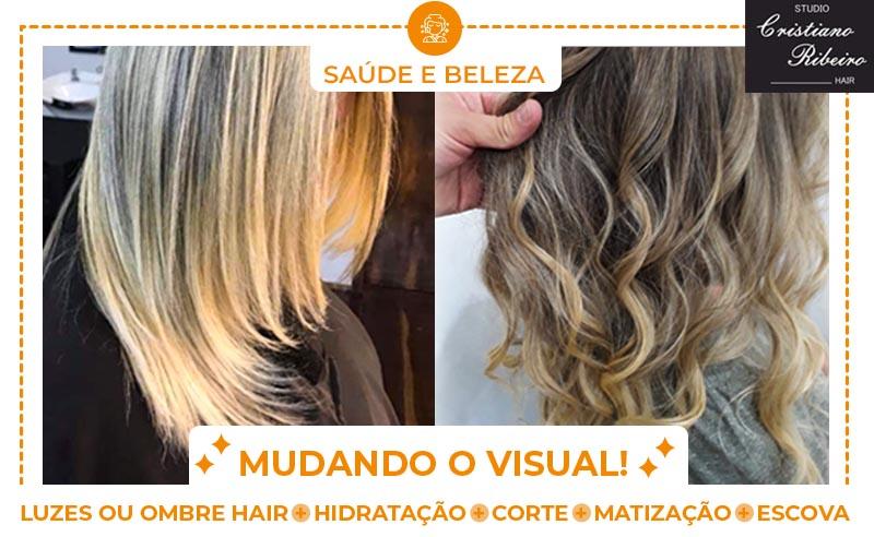 LUZES OU OMBRE HAIR+ HIDRATAÇÃO+CORTE+ MATIZAÇÃO+ESCOVA