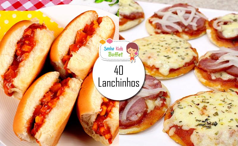 COMBO LANCHE: 40 Mini Pizzas ou Mini Hot Dogs