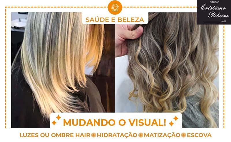 LUZES OU OMBRE HAIR+ HIDRATAÇÃO+ MATIZAÇÃO+ESCOVA