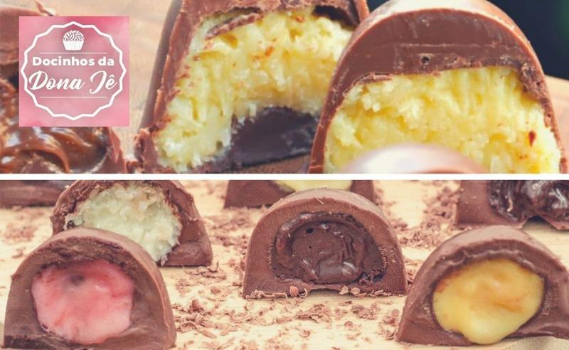 30 Trufas de Chocolate ao Leite Recheadas