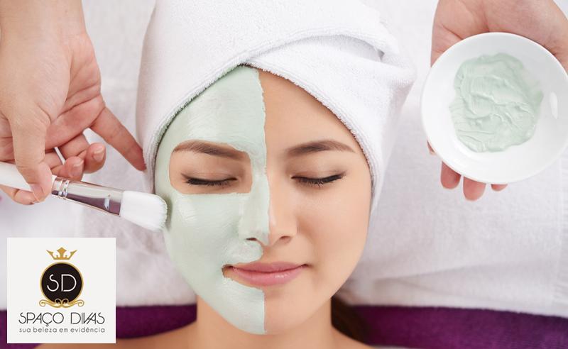 Facial no Spaço Divas: Limpeza de Pele + Máscaras