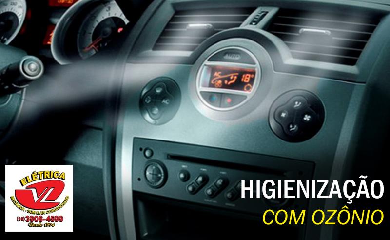 Higienização de Ar Condicionado Automotivo com Ozônio